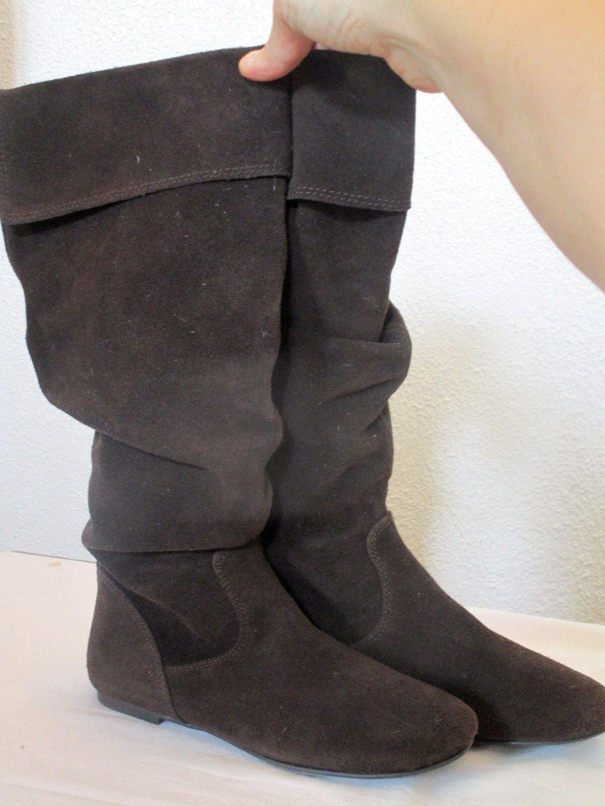 GIANNI BINI JACKPOT Dark Brown SUEDE KNEE HIGH SLOUCH BOOTS WMNS SIZE 5.5