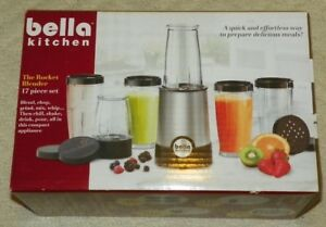 Details about Bella Kitchen - 17-piece Rocket Blender Set - Silver - -  PLEASE READ