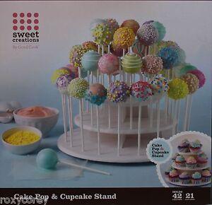 Good-Cook-Sweet-Creations-White-Cake-Pop-amp-Cupcake-Stand-NIB