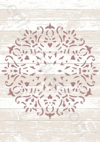 Tapete plantilla plantilla Vintage pintura Mandala Muebles de elaboración de Tarjetas Manualidades DL5