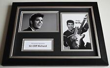 Sir Cliff Richard Signed Autograph A4 FRAMED photo display Singer AFTAL COA