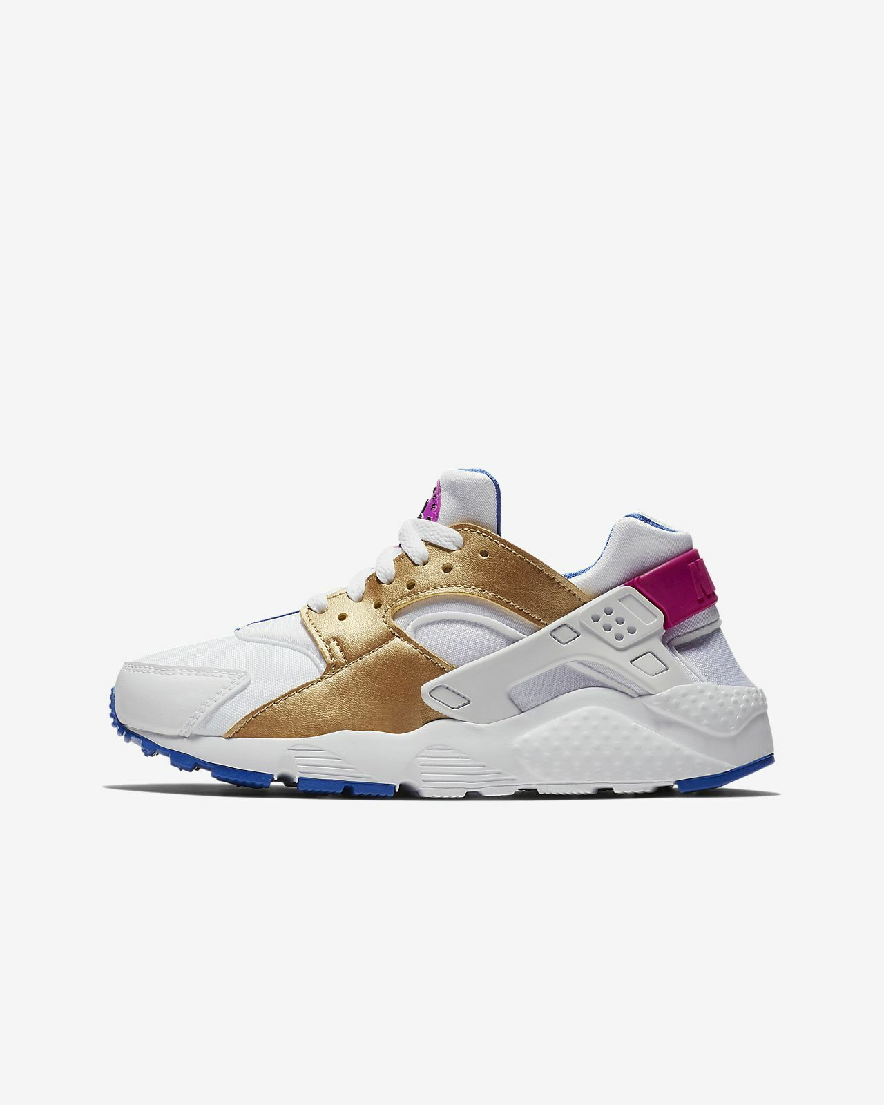 Nike Nike Nike Air Huarache White Racer Blue Fuchsia Pink Purple Metallic Gold 654280-109 47a33f