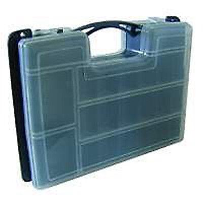 17 Fächer Kunststoff Plastikbox Sortimentskasten Tackle Box Köderbox Transparent