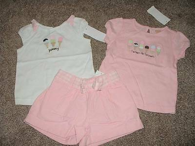 Gymboree Baby Girl Ice Cream Social Shorts Top Set Lot Size 18-24 mos NWT NEW