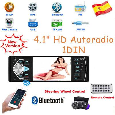 """4.1"""" HD Autoradio 1DIN Radio Coche MP3 MP5 Bluetooth USB SD AUX-IN Estéreo ISO"""