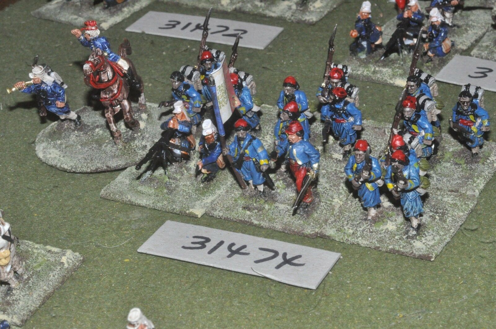 25mm colonial   french - zouave platoon 18 figures - inf (31474)