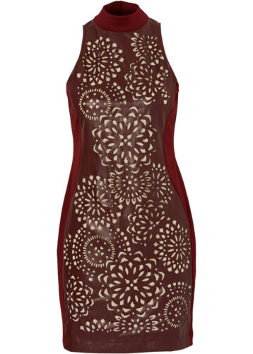 Gr Angesagtes Kleid mit Cut Outs in Bordeaux Q865-946269 40 // 42