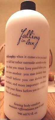New! 32oz PHILOSOPHY Falling In Love ROMANTIC Firming Body Emulsion Lotion +PUMP