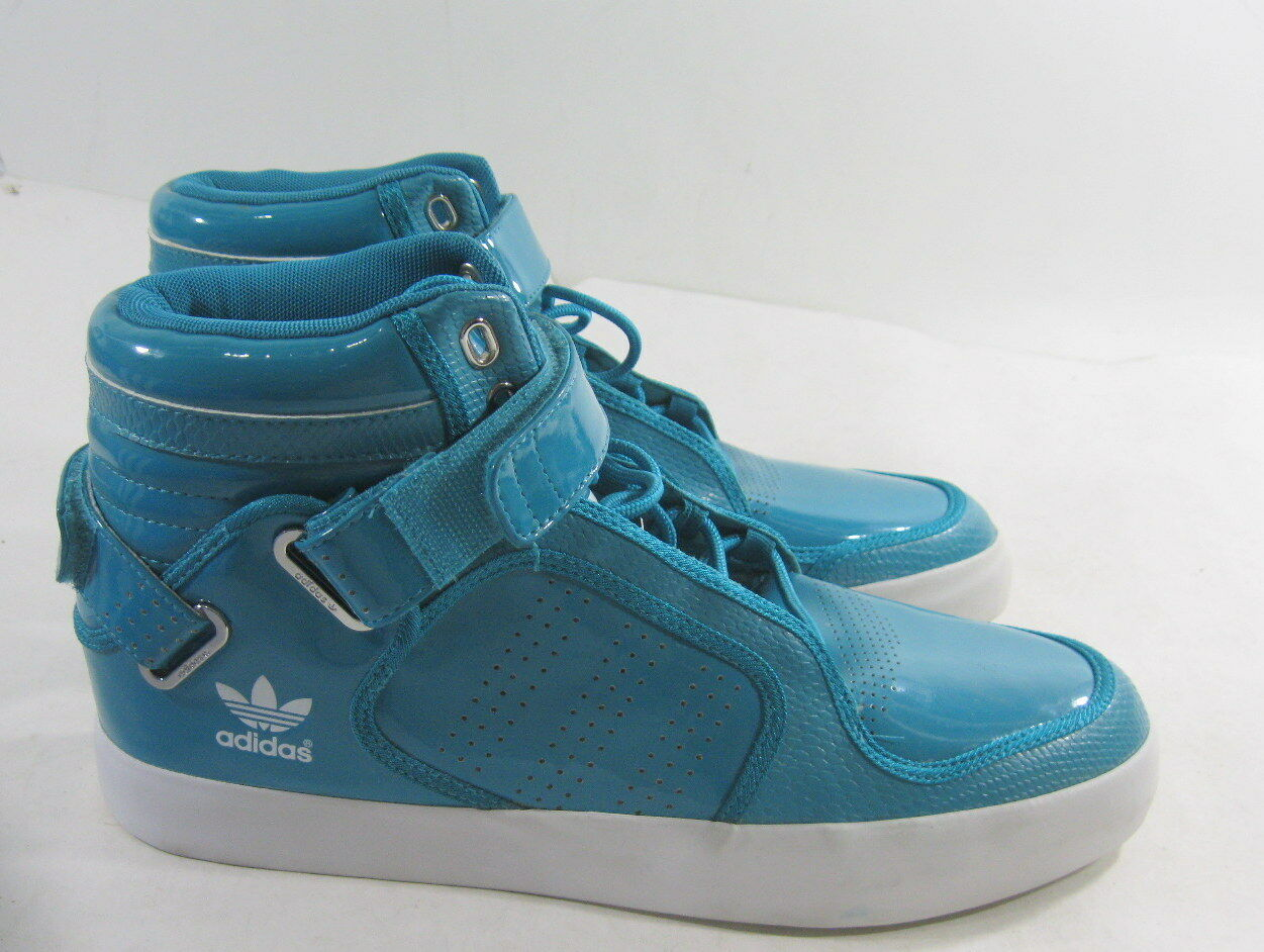 Adidas G21527 Mid Rise shoes Turquoise White Leather Men shoes Size 8.5