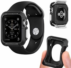 2-Apple-Watch-Rugged-42mm-Shockproof-TPU-Case-Black-And-Screen-Protector