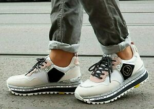 Turnschuhe Frauen Liu Jo Maxi Jeans Platform Veloursleder BXX051PX027 Weiß P //E
