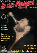 Iron Pages Nr.19 - 3/1992,Motörhead,Tiamat,Saxon,Killers,Messiah,Mystik,Manowar