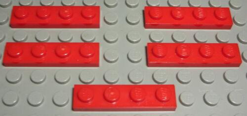 LEGO plaque 1x4 rouge 5 pièce 706