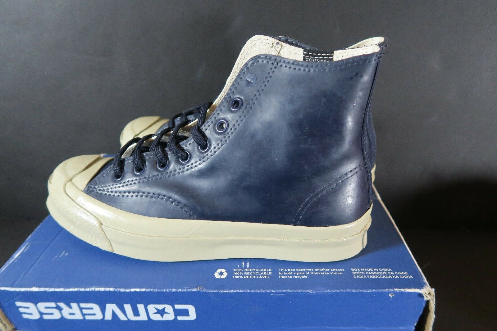 NEW Converse Jack Purcell Signature Rubber Hi Counter Climate Blue Men 5.5 Wmn 7