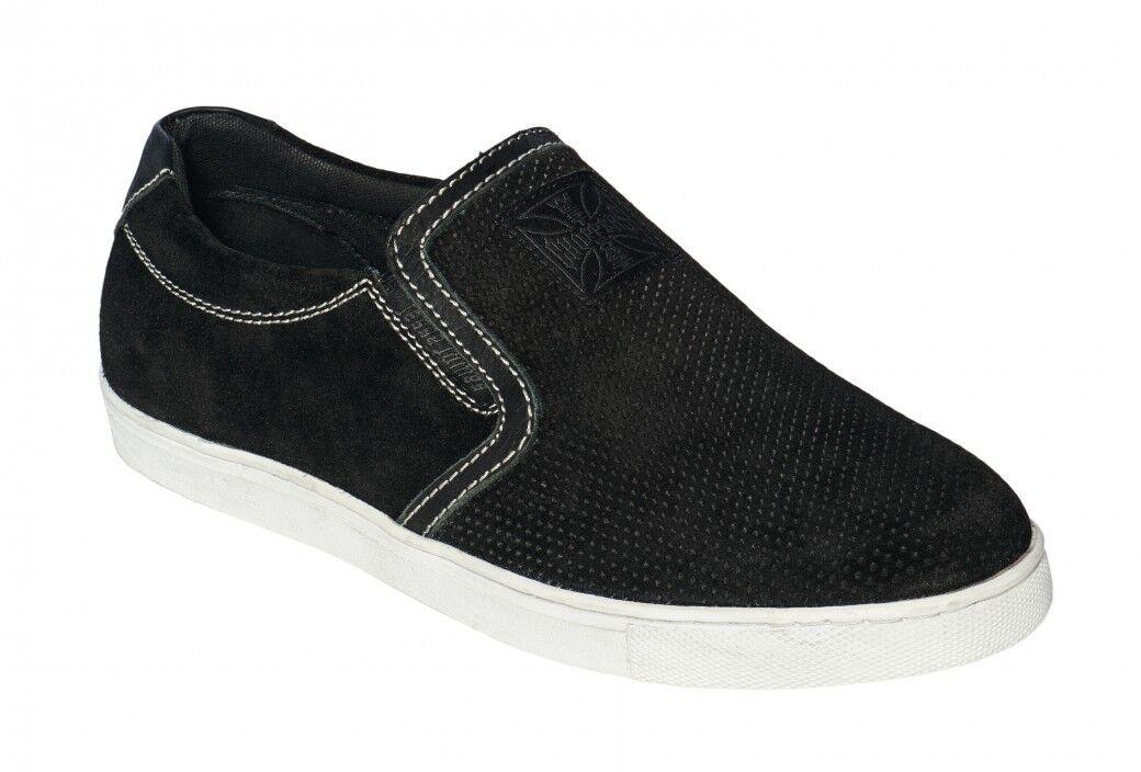 les hommes hommes les de la côte ouest des chaussures en daim les hélicos de hors - la - loi feuillet ons Noir  pantoufles sz.40 - 48 3871bf