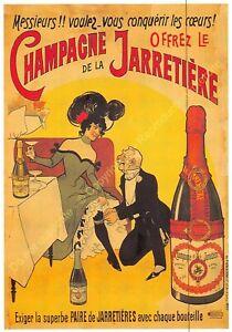 CP Postcard Poster Advertising Champagne Of La Garter Edit Clouet 10305