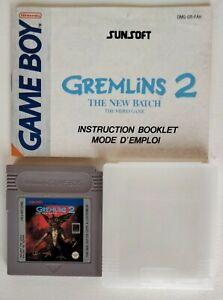 GREMLINS 2 Game Boy + boitier + livret fah Nintendo Bon état