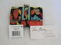 Vera Bradley Happy Snails Small Kisslock Clutch Wallet Coin For Purse Tote