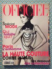 L'OFFICIEL PARIS French n°813 Mars 1997 Astrid Munoz Spécial Mode Haute Couture