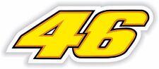 46 Valentino Rossi Sticker Motorcycle Gas Tank Bumper Helmet Top Case Car