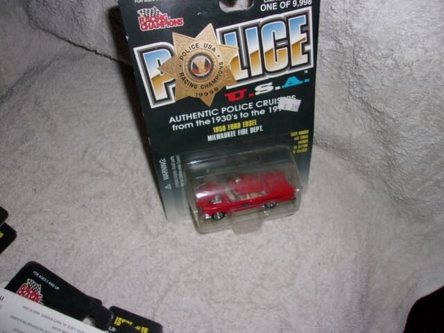 Milwaukee Fire Dept Wisconsin 1958 Ford Edsel RACING CHAMPIONS FREE SHIPPING #43