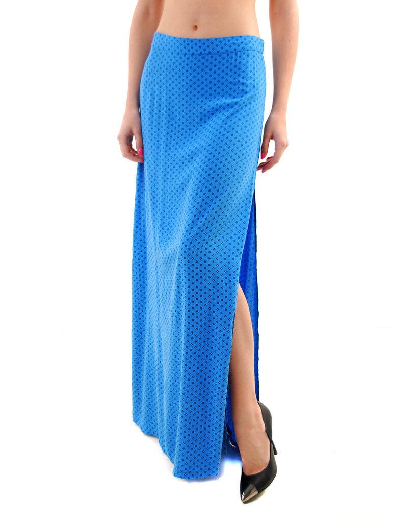 Wildfox Women's Diamond Foulard Wolf Slit Skirt bluee Size S RRP  118 BCF69