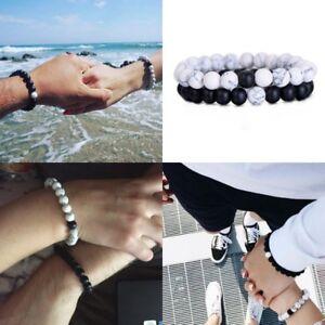 7c2ffe71f6ac Details about Pulseras para Parejas Pulseras de la Distancia Couple  Distance Bracelets Beads