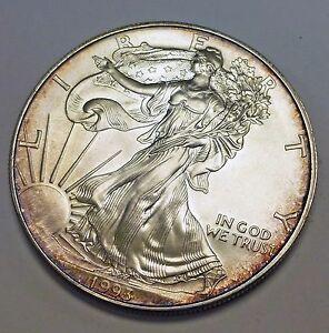 Bj Stamps 1993 1 American Eagle 999 Fine Silver Pretty