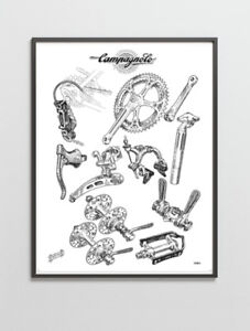 Campagnolo Record Nuovo Record groupset poster 1966