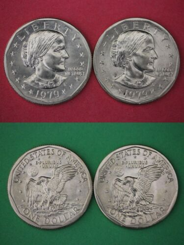1979 P D Susan B Anthony Dollar Brilliant Uncirculated Set Combined Shipping