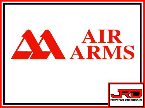 AIR ARMS VINYLE Logo Autocollant en rouge