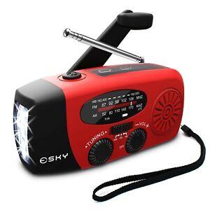 Radio De Manivela Con Linterna Para Emergencias, Radios Solares Portatiles, ...