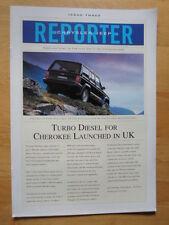 JEEP & CHRYSLER 1994-95 UK Mkt Newsletter Reporter Brochure - Issue 3