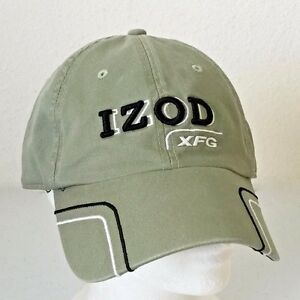 83578bd2a4bbf Image is loading IZOD-XFG-Golf-Cap-Hat-Green-Embroidered-Adjustable