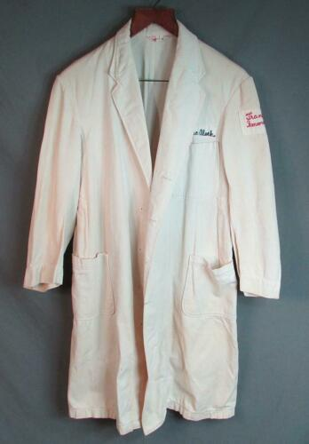 Vintage 1940s Doctors White Uniform Jacket Medical
