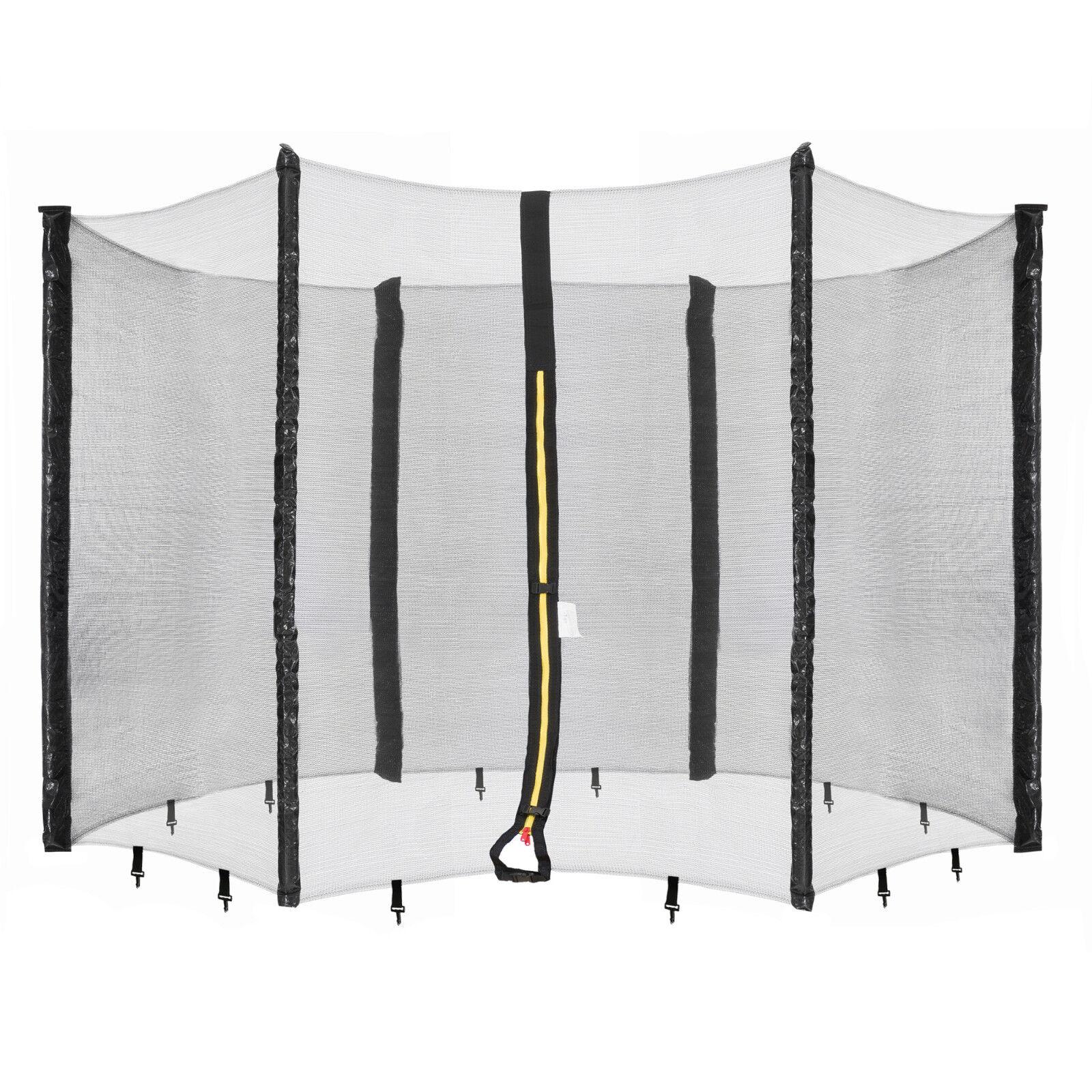 Arebos Trampolin Netz Sicherheitsnetz Fangnetz Schutznetz für 6 Stangen 490 cm