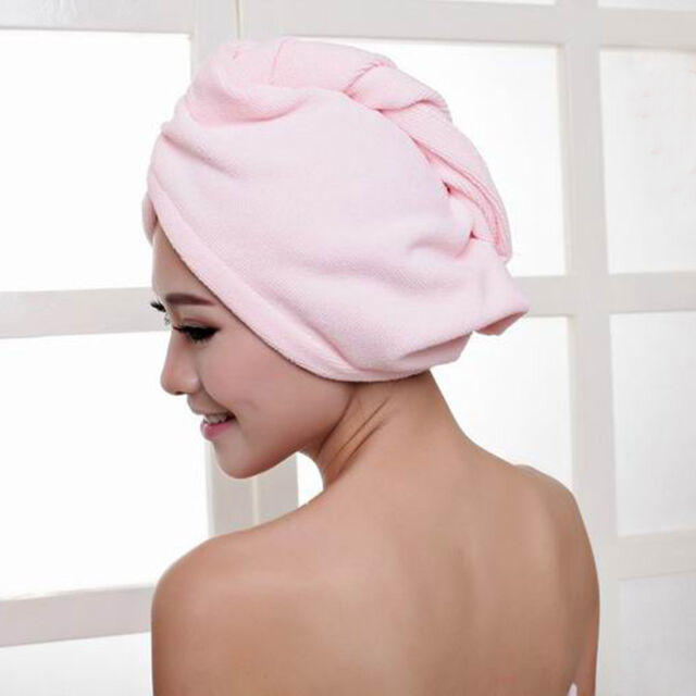 Quick Dry Microfiber Towel Hair Magic Drying Turban Wrap Hat Cap Spa Bathing Hot
