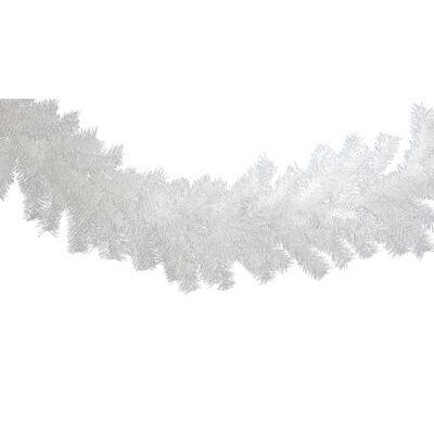 White Christmas Garland 6FT Length 12IN Width Christmas Tinsel Brush Garland