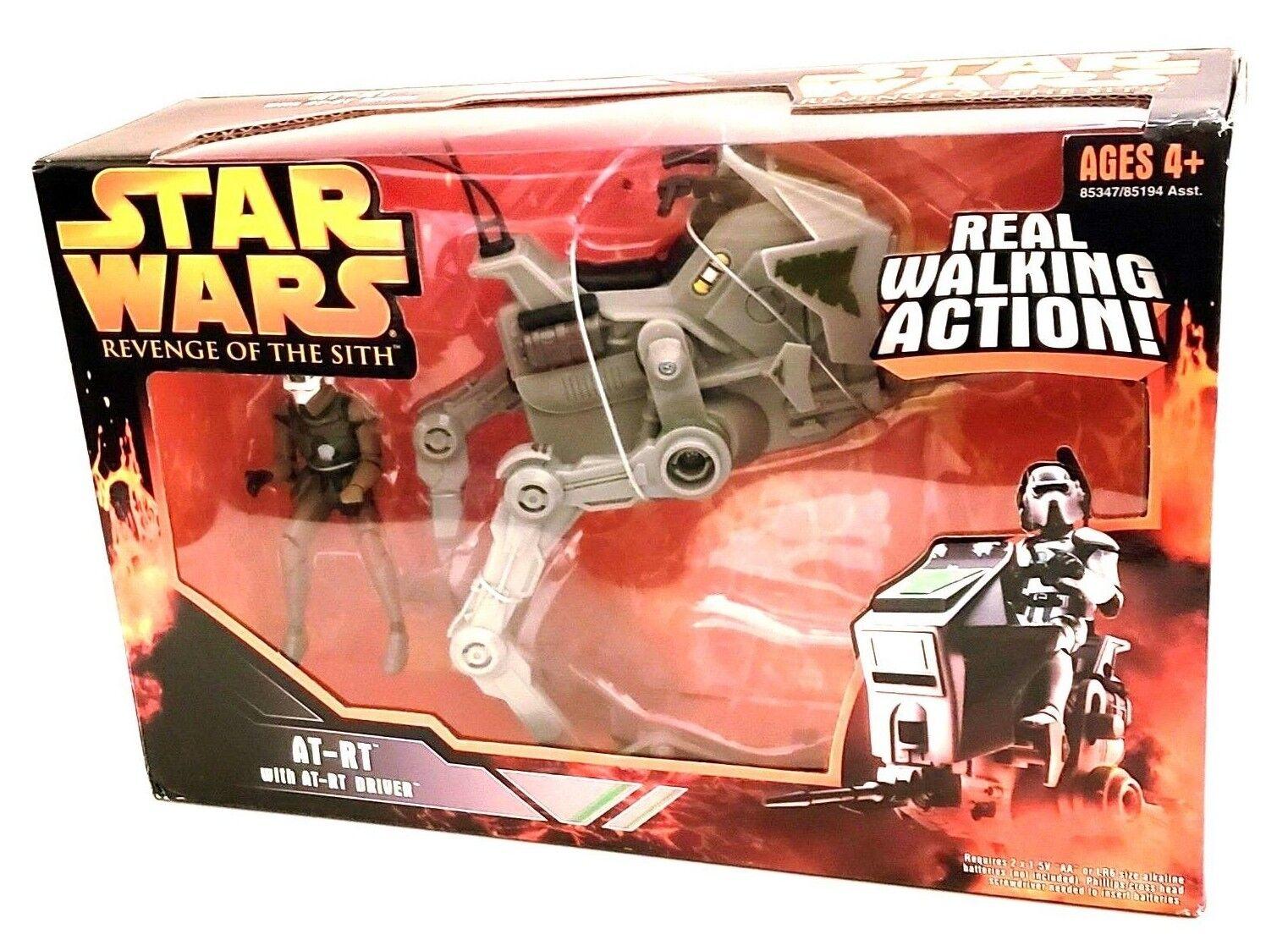 Neue 2005 star wars episode 3 at-rt mit at-rt fahrer action - figur