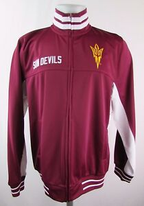 Arizona-State-Sun-Devils-Men-039-s-L-Full-Zip-Polyester-Track-Jacket-ST1-NCAA-A11