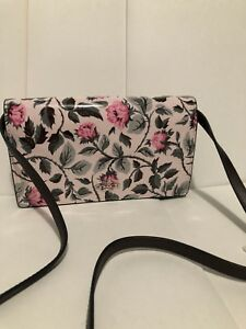 NEW-Coach-Patent-Leather-SleepIng-Rose-Small-Floral-Bag-Crossbody-Clutch-F25788