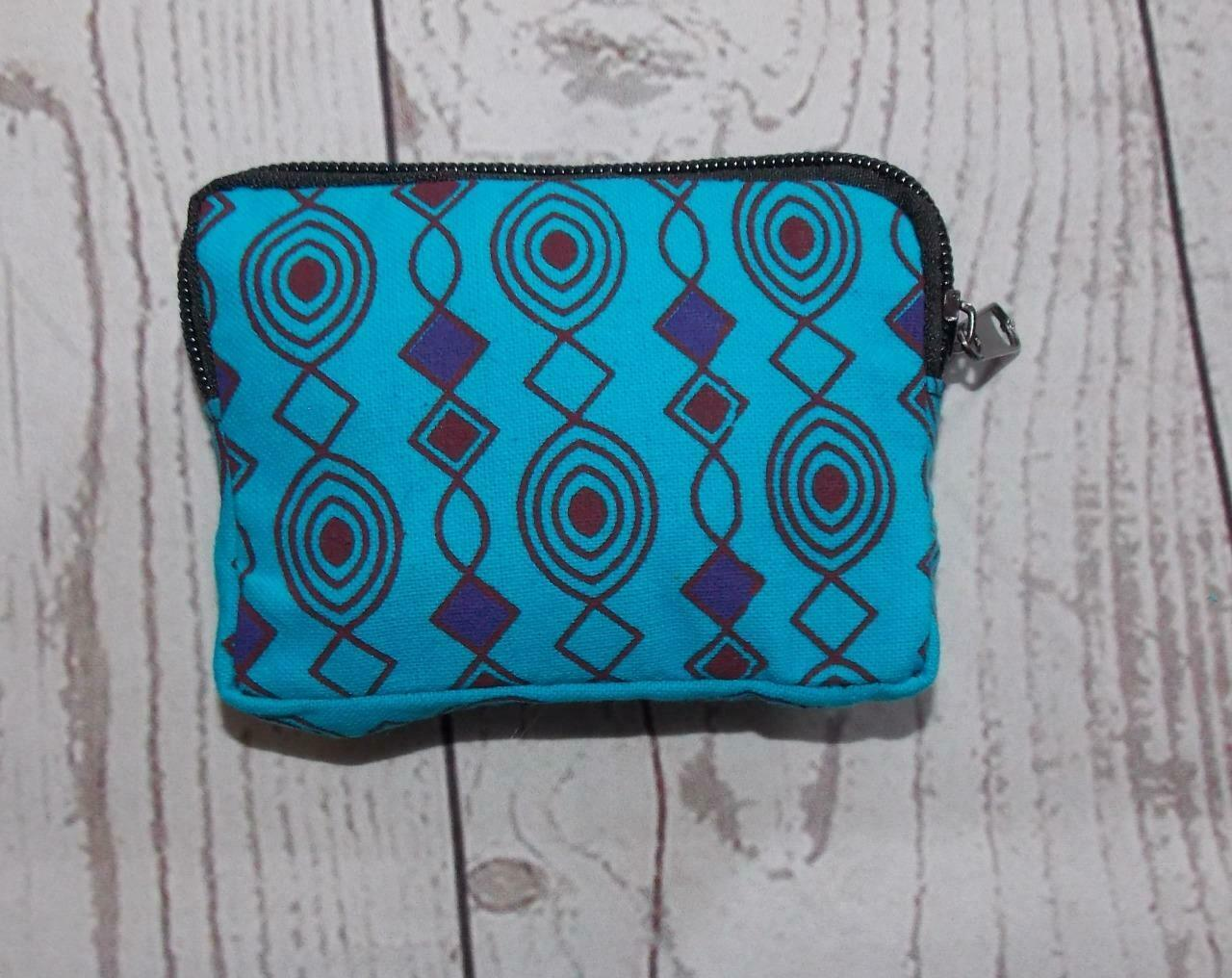 Fair Trade Ethnic Hippy Boho Multi-Coloured Cotton Wallet / Purse From Nepal