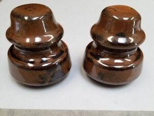 Vintage Porcelain Insulators Lot Of 2