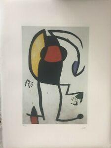 Joan Miro Litografia cm 56x76 edizione Spadem 1970-1980 certificato autentica