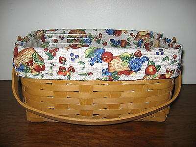 Fits 2015 Too! NEW Longaberger Early Harvest OTE Liner 4 Your Lunch Box Basket