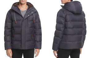 Andrew-Marc-Groton-Hooded-Men-039-s-Puffer-Jacket-Small-Magnet-Used-MSRP-595
