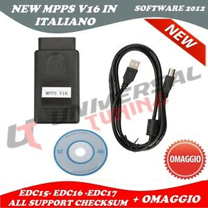 Details about NEW MPPS v16 tuning edc16 EDC 17 sid206 checksum obd  programmer ecu Italian- show original title