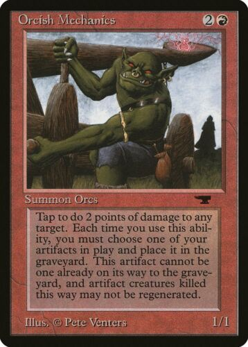 Orcish Mechanics Antiquities NM Red Common MAGIC THE GATHERING CARD ABUGames