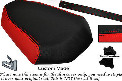 BLACK & BRIGHT RED CUSTOM FITS YAMAHA MT 07 13-15 REAR LEATHER SEAT COVER