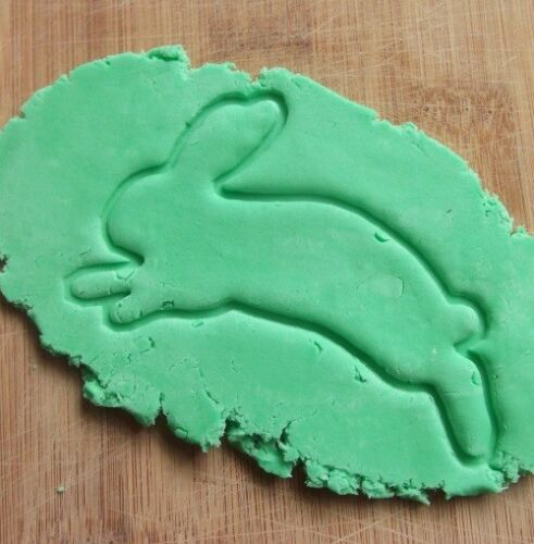 Rabbit Bunny Hare Shape Cookie Cutter Biscuit Pastry Fondant Leaping AL30
